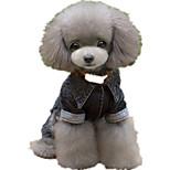 Собака Комбинезоны Одежда для собак На каждый день Английский Черный