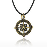 Men's Pendant Necklaces Round Anchor Alloy Hip-Hop Personalized Jewelry For Daily Casual