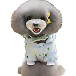 Dog Pajamas Dog Clothes Terylene Spring/Fall Winter Casual/Daily Polka Dots Yellow Light Blue For Pets