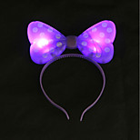 1PC Glow LED Bow Headband for Bar Evening Party& Children's Day Gifts Ramdon Color