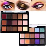 Pro 15 Color Matte&Shimmer Waterproof Eyeshadow Powder Kit Earth Tone Smoky Eye Shadow Makeup Cosmetic Palette