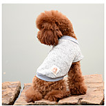 Dog Jumpsuit Sweaters Dog Clothes Warm Casual/Daily Solid Gray Yellow Red Blue Costume For Pets