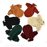 Dog Sweater Dog Clothes Casual/Daily Keep Warm Halloween Christmas Solid Random Color