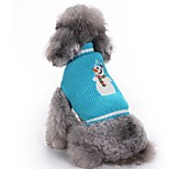Dog Sweater Dog Clothes Christmas Christmas Christmas Blue Costume For Pets