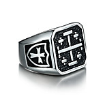 Men's Band Rings Vintage Rock Stainless Steel Jewelry For Daily Casual