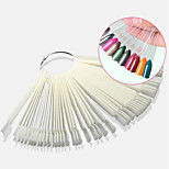 50Pcs False Nail Display Fan Board Nail Art Design Tips Decoration Practice Round Hoop Tool