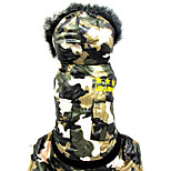 Dog Jumpsuit Dog Clothes Warm Casual/Daily Geometric Camouflage Color Costume For Pets