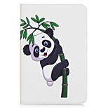 Panda and Bamboo Pattern Card Holder Wallet with Stand Flip Magnetic PU Leather Case for Samsung Galaxy Tab A 8.0 T350 T355 8.0 inch Tablet PC