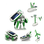 6 IN 1 Robot Solar Powered Toys Toys Aircraft Windmill Ship Robot Kids 1 Pieces