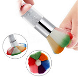 1pc Colorful Nail Brush Powder Nail Art Dust Remover Brush Cleaner Nail Art Design Makeup Tool