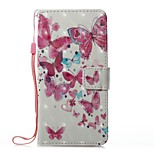 For Case Cover Card Holder Wallet with Stand Flip Magnetic Pattern Full Body Case Butterfly Hard PU Leather for Huawei Huawei P10 Lite