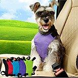 Dog Car Seat Harness/Safety Harness Adjustable Solid Nylon Black Purple Blue