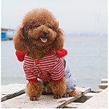 Dog Clothes/Jumpsuit Dog Clothes Casual/Daily Stripe Red