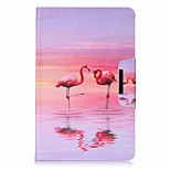 Flamingo Pattern Card Holder Wallet with Stand Flip Magnetic PU Leather Case for Samsung GALAXY Tab E 9.6 T560 T561 9.6 inch Tablet PC