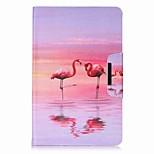 фламинго шаблон карты держатель кошелек с подставкой флип магнитный кожаный чехол pu для Samsung Galaxy Tab e 9,6 t560 t561 9,6-дюймовый