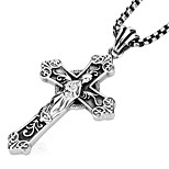 Men's Pendants Cross Titanium Steel Fashion Punk Jewelry For Party/ Evening Daily