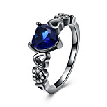 Жен. Классические кольца Цирконий Циркон В форме сердца Бижутерия Назначение Для вечеринок Halloween