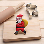 Santa Clause with Bag Cookies Cutter Stainless Steel Biscuit Cake Mold Fondant Baking Tools