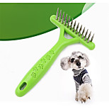 Cat Dog Grooming Comb Portable Green