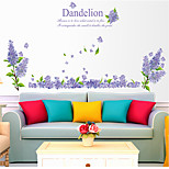 Floral/Botanical Fashion Wall Stickers Plane Wall Stickers Decorative Wall Stickers,Plastic Material Home Decoration Wall Decal