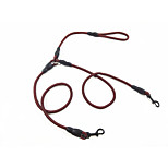 Dog Leashes Portable Solid Nylon Black Orange Fuchsia Red
