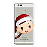 Case For Huawei P9 P10 Transparent Pattern Back Cover Transparent Christmas Soft TPU for Huawei P10 Plus Huawei P10 Lite Huawei P10