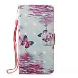 Coque Pour Huawei Portefeuille Porte Carte Avec Support Clapet Motif Magnétique Coque Intégrale Papillon Dur Cuir PU pour Huawei P10 Lite