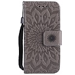 Case For Apple ipod Touch 5 Touch 6 Case Cover Pattern Full Body Case Sunflower Hard PU Leather