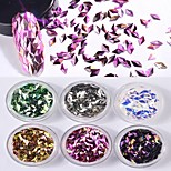 6 color 3D The Diamond  Solid Form Laser Colorful Sequins 1g/box