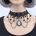 Women's Choker Necklaces Geometric Lace Alloy Personalized Adorable Jewelry For Party Going out