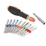 12 in 1multi tool Professional screwdriver set Color Ring Screwdriver Multi-functional magnet Screw Bits Kit Repair Tool