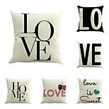 набор из 6 настроить творческую любовь печать хлопок / белье наволочку диван наволочка 45 * 45 см