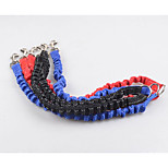 Dog Leash Portable Solid Nylon Black Red Blue