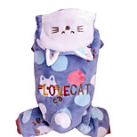 Cat Dog Jumpsuit Dog Clothes Keep Warm Animal Blue Costume For Pets