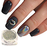 0.15g Magical Rainbow Laser Mirror Effect Nail Art Glitter Silver Holographic Laser Chrome Powder Glisten Pigment Nail Salon DIY Decoration SL0602-X02