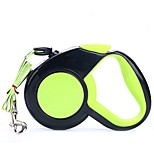 Dog Leash Portable Solid Rubber Orange Green