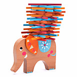 Wood Block Toys Elephant Wood Animals Family Friends Pieces Kids Gift