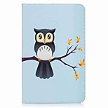 Owl Pattern Card Holder Wallet with Stand Flip Magnetic PU Leather Case for Samsung GALAXY Tab E 9.6 T560 T561 9.6 inch Tablet PC
