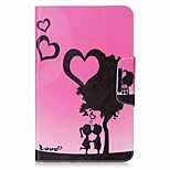 Heart Pattern Card Holder Wallet with Stand Flip Magnetic PU Leather Case for Samsung Galaxy TAB A 10.1 T580N T585N 10.1 inch Tablet PC