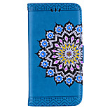 cheap -For Case Cover Card Holder Wallet Flip Embossed Pattern Full Body Case Mandala Flower Hard PU Leather for Sony Sony Xperia XZ Sony Xperia
