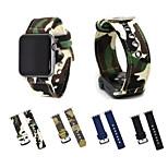 для яблочных часов iwatch серии 3 2 1 камуфляж полотно сплетенный браслет браслет с металлическим зажимным адаптером