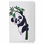 Panda and Bamboo Pattern Card Holder Wallet with Stand Flip Magnetic PU Leather Case for Samsung GALAXY Tab E 9.6 T560 T561 9.6 inch Tablet PC