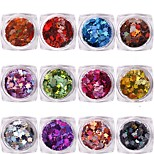 Sequins metallici di foglia dell'acero 12pcs