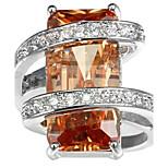 Муж. Жен. Кольцо на кончик пальца Обручальное кольцо Цирконий Циркон Медь Геометрической формы Бижутерия Назначение Свадьба Для вечеринок