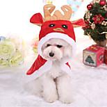 Собака Плащи Одежда для собак Рождество Английский Красный