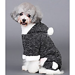 Dog Jumpsuit Dog Clothes Casual/Daily Solid Black For Pets