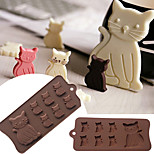 Lovely Cat Kitten 7 Cavity Silicone Mold for Fondant Gum Paste Chocolate Cookie Cake Tools