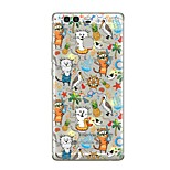 For Case Cover Transparent Pattern Back Cover Case Transparent Cartoon Animal Soft TPU for Huawei Huawei P10 Plus Huawei P10 Lite Huawei