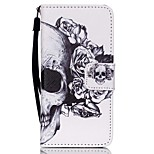 Case For Apple Ipod Touch5 / 6 Case Cover Card Holder Wallet with Stand Flip Pattern Full Body Case  Skull Hard PU Leather