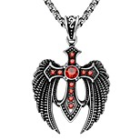 Men's Women's Pendant Necklaces AAA Cubic Zirconia Cross Wings / Feather Stainless Steel Zircon Metallic Vintage Jewelry For Ceremony